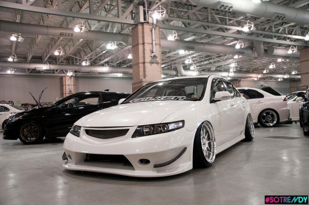 Euro-R converted TSX sporting the J's Racing bumper