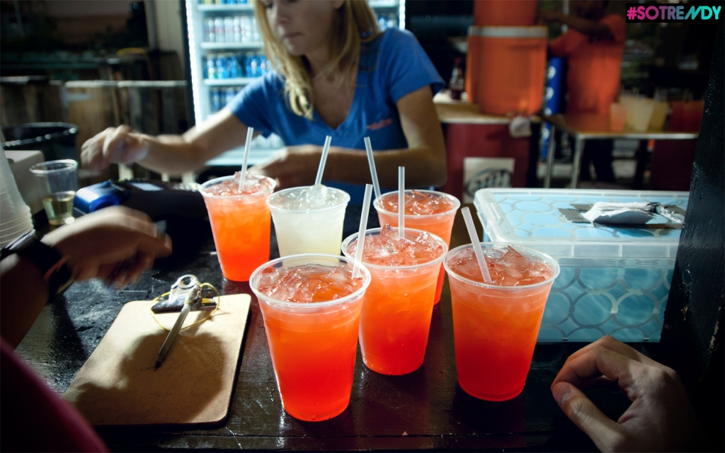 Our third round of fun consist of girly red drinks