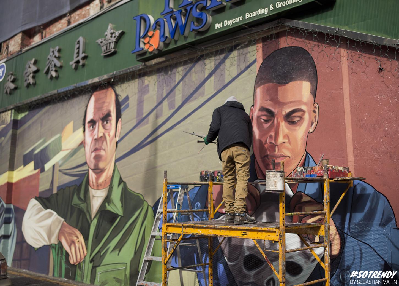 GTA Mural in Soho